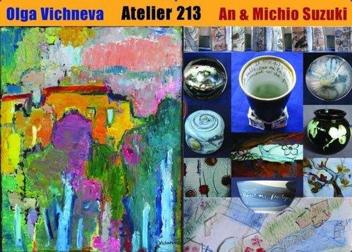 Exposition penture et céramique à l'Atelier 213